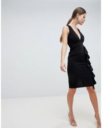 AX Paris - V Neck Fitted Pencil Dress - Lyst