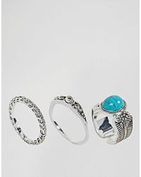 Pieces - Ring Set - Lyst