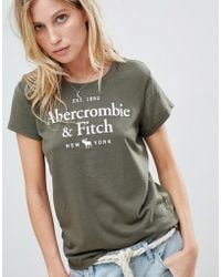 Abercrombie & Fitch - Embroidered Logo T Shirt - Lyst