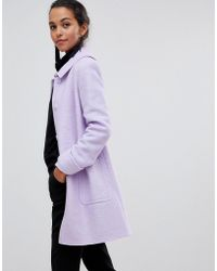 Helene Berman - Helene Bermal Swing Coat In Wool Blend - Lyst