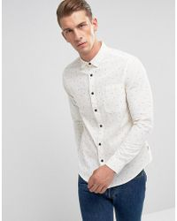 Only & Sons - Shirt In Slim Fit All Over Ditsy Print - Lyst