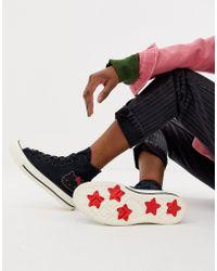 Converse - X Hello Kitty Chuck Taylor 70 Hi Black Trainers - Lyst