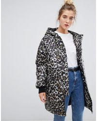 Soaked In Luxury - Leopard Print Quilted Jacket - Lyst