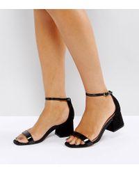 220b4230a9fb Lyst - ASOS Asos Piston Multi Strap Western Heeled Sandals in Black