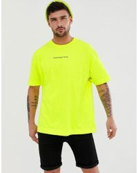 187d97c728 Good For Nothing - Oversized T-shirt In Neon Yellow - Lyst