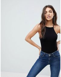 ASOS - Cami With Square Neck In Fitted Rib - Lyst