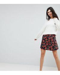 ASOS - Skater Skirt In Cherry Print - Lyst