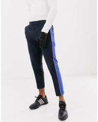 J.Lindeberg - Golf Ivan Micro Stretch Trousers With Side Taping In Navy - Lyst