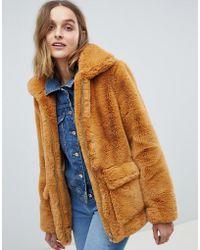 Barneys Originals - Faux Fur Coat - Lyst