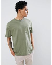 Pull&Bear - Join Life Organic Cotton T-shirt In Khaki With Pocket - Lyst