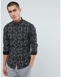 Jack & Jones - Premium Slim Fit Printed Shirt - Lyst