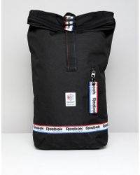 Reebok - Classic Backpack With Logo Taping In Black Dh3565 - Lyst