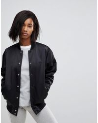 adidas Originals - Originals Popper Bomber Jacket In Black - Lyst
