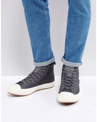 Converse - Chuck Taylor All Star Wp Trainer Boots In Grey 157459c048 - Lyst