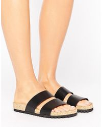 Monki - Double Strap Sandals - Lyst