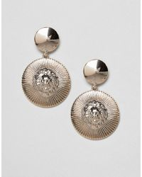 Missguided - Lion Disc Drop Earring - Lyst