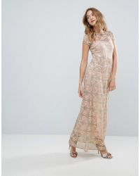 Traffic People - Lace Maxi Dress - Lyst