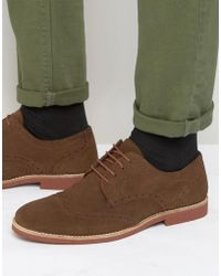 Red Tape - Brogues In Brown Suede - Brown - Lyst