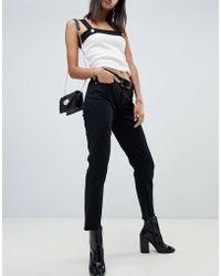NA-KD - Mom Jeans In Black - Lyst