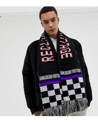 258d5a1a342b Reclaimed (vintage) - Inspired Oversized Scarf In Logo Checkerboard Print  With Tassels - Lyst