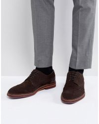 Ted Baker - Gourduns Suede Brogue Shoes In Brown - Lyst