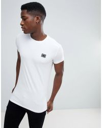 Antony Morato - T-shirt In White With Metal Badge - Lyst