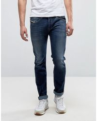 DIESEL Jeans Belther 814w Slim Fit Mid Wash - Blue
