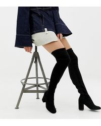 ASOS - Asos Design Wide Fit Tall Kadi Heeled Over The Knee Boots - Lyst