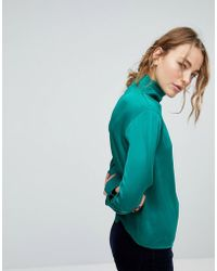 Weekday - Slinky High Neck Blouse - Lyst