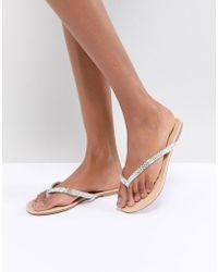 Oasis - Dimante Flat Sandal - Lyst