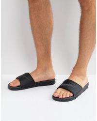 Nike - Benassi Slider Flip Flops In Black 705474-091 - Lyst