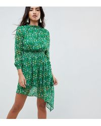 c00437796b Urban Outfitters Kimchi Blue Smocked Prairie Dress in Red - Lyst