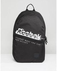 Reebok - Training Backpack In Black Cz9752 - Lyst