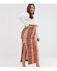 296862aef2 ASOS Asos Design Tall Maxi Skirt With Paperbag Waist in Black - Lyst