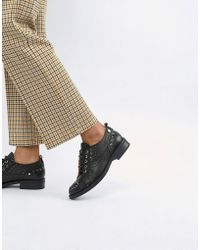 Love Moschino - Lace Up Flat Brogues - Lyst