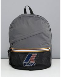 K-Way - K-way Le Vrai 3.0 Francois Packaway Backpack In Grey - Lyst