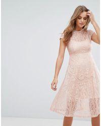 Cotton Candy - Lace Midi Dress - Lyst