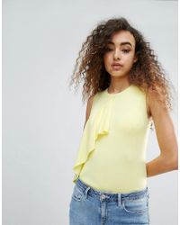 Warehouse - Ruffle Front Top - Lyst