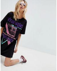 Wrangler - Vintage Logo T Shirt Dress - Lyst