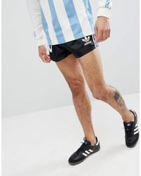 adidas Originals - Retro Argentina Football Shorts In Black Cd6972 - Lyst