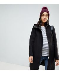 ASOS - Asos Design Maternity Zip Through Coat With Hood - Lyst