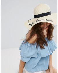 ALDO - Girls Just Want To Have Sun Straw Floppy Hat - Lyst