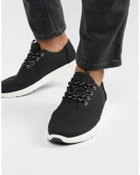 TOMS - Del Rey Vegan Canvas Trainer In Black - Lyst