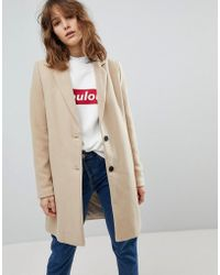 Stradivarius - Camel Tailored Coat - Lyst