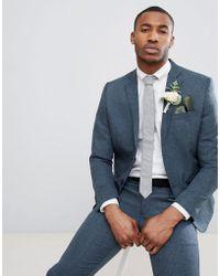 Boohoo - Wedding Slim Fit Suit Jacket In Navy - Lyst