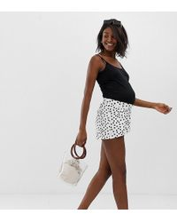 97d6704f5147 ASOS Asos Design Petite Culotte Shorts in Black - Lyst