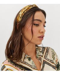 Missguided - Alice Headband In Snake - Lyst