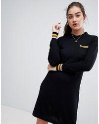 Sugarhill - Jamie Stripe Trim Knit Dress - Lyst
