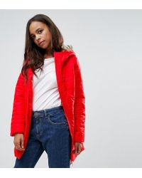 Vero Moda | Padded Faux Fur Belted Coat | Lyst