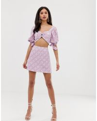 Finders Keepers - Nostalgia Two-piece Check Skirt - Lyst